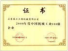 2008年度中国机械工业100强