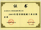 2009年度中国机械工业百强
