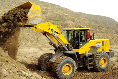 Lingong LG953 at Gansu construction site