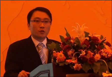 Brand Director of Volvo Construction Equipment (China) Zhao Yong Making a Speech
