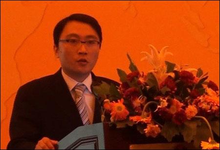 Brand Director of Volvo Construction Equipment (China) Zhao Yong Making a Speech