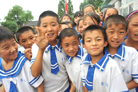 Haining primary school children