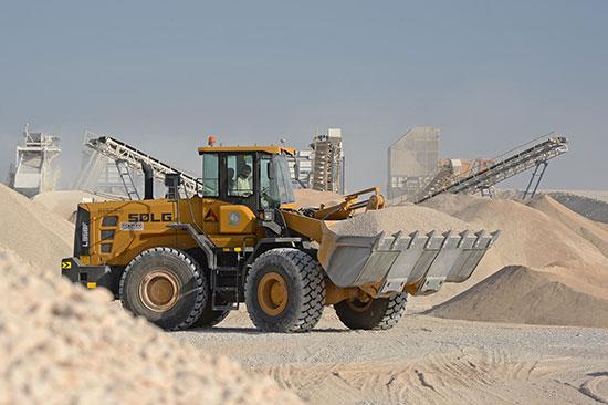 SDLG wheel loader shows rock-hard reliability at Oman aggregate plant